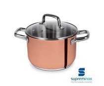 SUPREMINOX  Stock pot  20 cm with glass lid