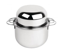 M & T  Mussel pot 20 cm with lid stainless steel