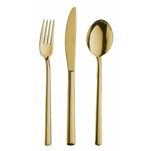 PINTINOX  Table knife monobloc Synthesis Treasure Gold