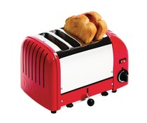DUALIT  Toaster 4 slices color : red