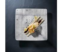 Chef & Sommelier Vierkant bord 28 x 28 cm Concrete