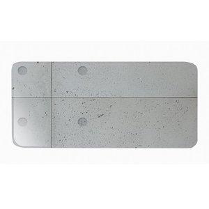 CHEF & SOMMELIER  Rectangular plate  27 x 13 cm Concrete