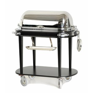 M & T  Carving trolley cloche made of stainless steel modern design