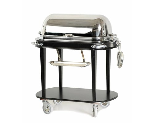 M & T  Carving trolley cloche made of stainless steel  modern deisgn