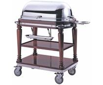 M & T  Carving trolley cloche made of stainless steel