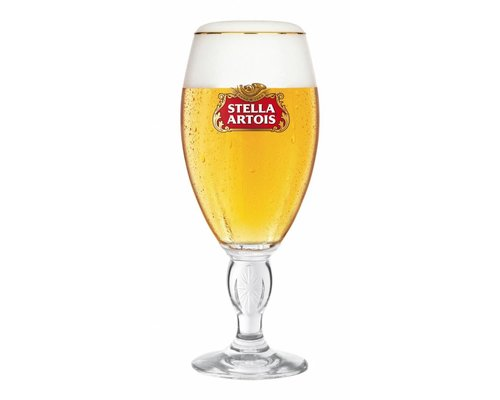 M & T  Stella Artois glass footed 25 cl