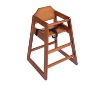 M&T Kinderstoel donkerbruin hout