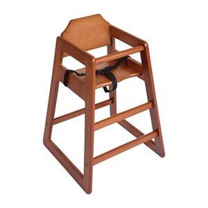 M&T Chaise bébé en bois foncé