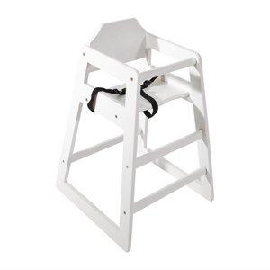 M&T Chaise bébé en bois blanche antique