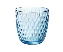 """Bormioli Rocco Water- en frisdrank glas 29 cl blauw  """" Slot """""""