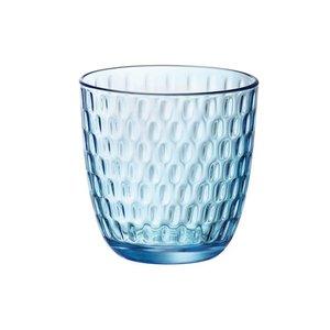 "BORMIOLI ROCCO  Water- &  soda glass 29 cl blue "" Slot """