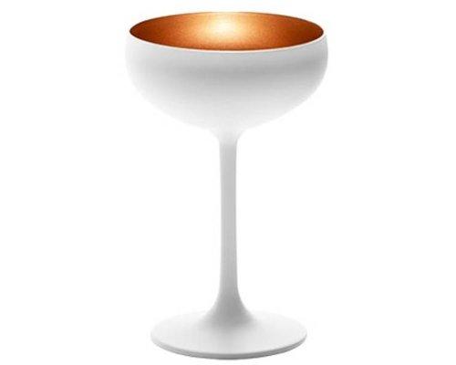 STÖLZLE  Champagne coupe 23 cl  wit/goud Olympic