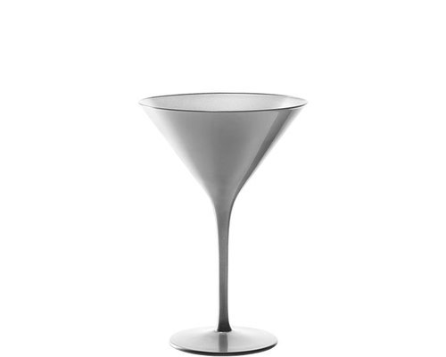 STÖLZLE  Martini cocktail & Champagne glas 24 cl zilver Olympic