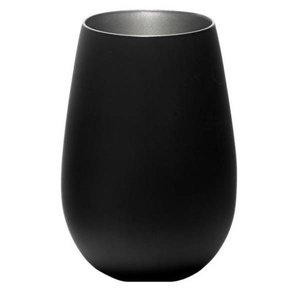 STÖLZLE  Water & longdrink glas 47 cl  zwart/zilver Olympic