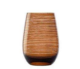 STÖLZLE  Water & longdrink glas 47 cl bruin Twister