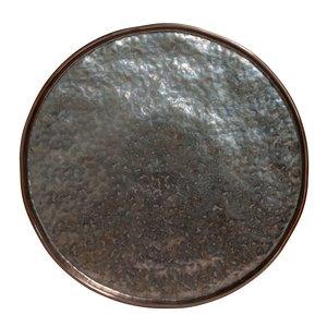 M & T  Flat plate 27 cm Lagoa Metal Black