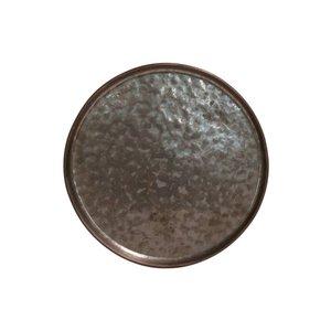 M & T  Flat plate 16 cm Lagoa Metal Black