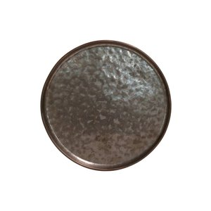 M & T  Plat bord  16 cm Lagoa Metal Black
