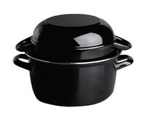 OLYMPIA  Mussel pot black 14 cm portion 0,5 kg