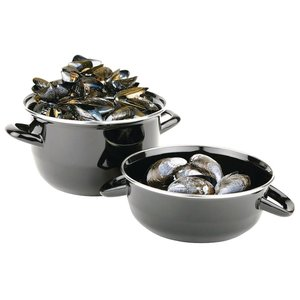 M & T  Mussel pot black 22cm portion 1,5 kg
