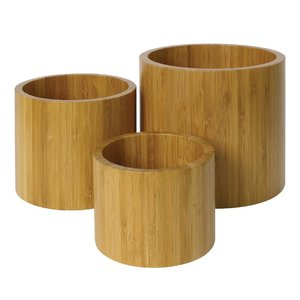 M & T  Bamboo buffet display 3 pcs