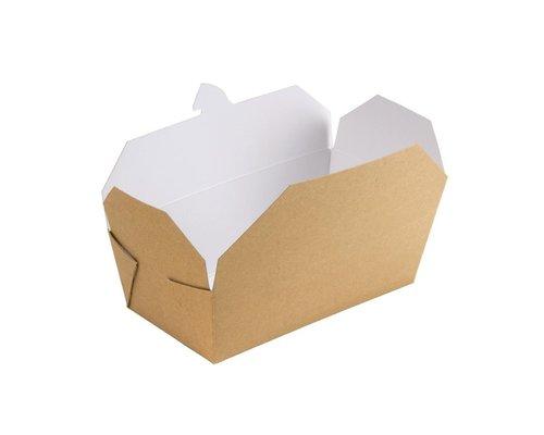 M & T  Carton boxes rectangular  for take away carton with 250 pieces