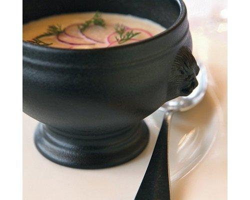 Revol Bol à soupe tetes de lion noir 0,25 litres