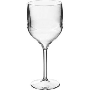 M & T  Wijn & gin glas 35 cl op voet  polycarbonaat