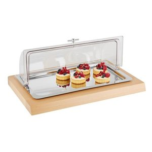 M&T Buffet set GN 1/1 cooled with roll-top cloche