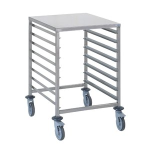 Tournus Racking trolley holds 8 GN2/1  with work tablet