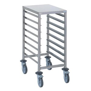 Tournus Racking trolley holds 8 GN 1/1  with work tablet