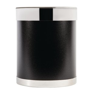 M&T Waste bin black metal