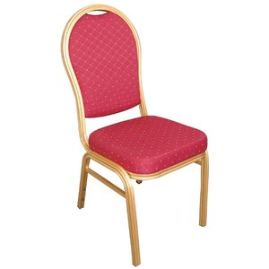 M&T Banquet & seminar chair stackable, red