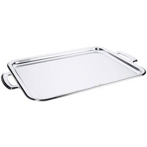 M & T  Tray 40 x 30 cm with handles stainless steel 18/10
