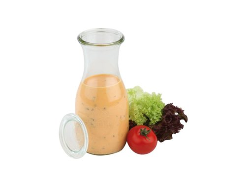 WECK  Bottle with glass lid 0,5 liter set 6 pieces