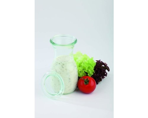 WECK  Bottle with glass lid 0,25 liter set 6 pieces