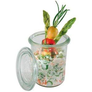 WECK  Potje met glazen deksel 0,16 liter set 12 stuks