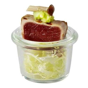WECK  Gourmet potje zonder deksel  0,16 liter set 12 stuks
