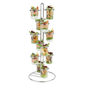WECK  Buffet stand holds 12 Weck pots