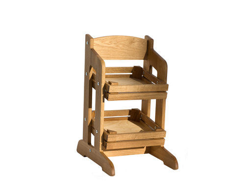 CRASTER  Flow Stand two Tier oak