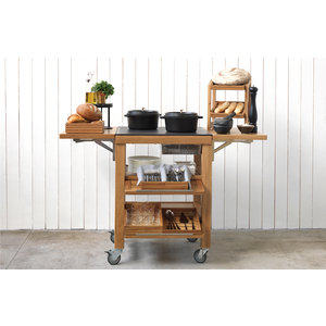 CRASTER  Hot & Cold Trolley - Matt laquered oak