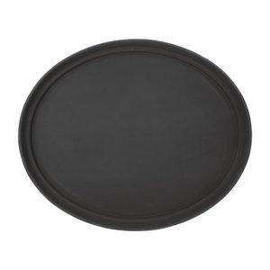 OLYMPIA DIENBLADEN  Oval non-slip tray XL black