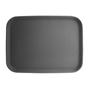 OLYMPIA DIENBLADEN  Rectangular non-slip tray black