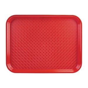 OLYMPIA DIENBLADEN  Dienblad fast food  rood  34,5 x 26,5 cm