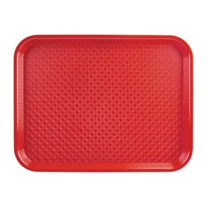 OLYMPIA DIENBLADEN  Tray fast food  red 34,5 x 26,5 cm