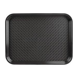 OLYMPIA DIENBLADEN  Dienblad fast food  zwart  34,5 x 26,5 cm