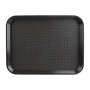 OLYMPIA DIENBLADEN  Tray fast food  black  34,5 x 26,5 cm