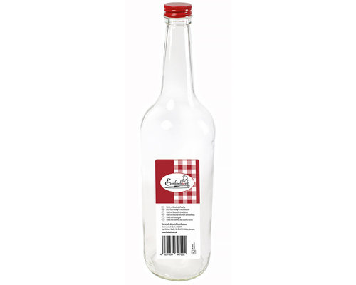 WECK  Bottle 1 liter with red screw  top