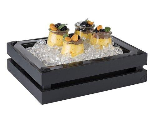 M & T  Buffet box GN 1/2 black wood