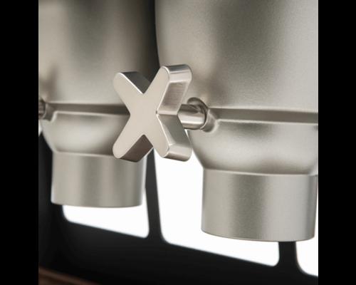 ROSSETO Ontbijtgranen dispenser 5 x 4,9 liter op  houten standaard